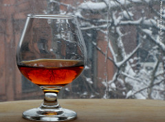 A glass to warm your soul on cold snowy day....bourbon